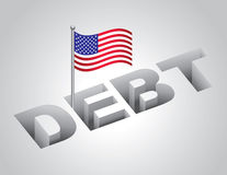 United States National Debt. Vector illustration of United States national debt concept Stock Images
