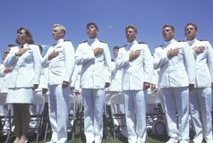 United States Naval Academy Graduation Ceremony, May 26, 1999, Annapolis, Maryland Stock Photo