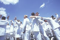United States Naval Academy Graduation Ceremony, May 26, 1999, Annapolis, Maryland Stock Photography
