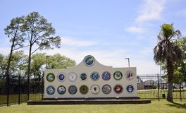 Naval Construction Battalion Center, Gulfport, Mississippi. United States Naval Construction Battalions, better known as the Seabees, form the Naval Construction Stock Photo