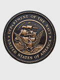 United states navy emblem. United states department of the navy plaque Stock Photography
