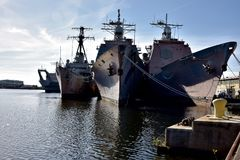 United States Navy Reserve Fleet Stock Photos