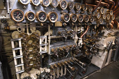United States Navy Submarine USS Silvesides. Muskegon, MI, USA – June 20, 2016: Control room of USS Silversides Submarine Museum in Muskegon, Michigan Royalty Free Stock Photo
