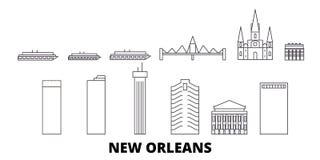 United States, New Orleans line travel skyline set. United States, New Orleans outline city vector illustration, symbol royalty free illustration