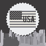 United States and New York design Stock Image