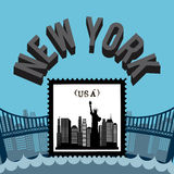 United States and New York design Royalty Free Stock Photo