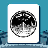 United States and New York design Stock Photography