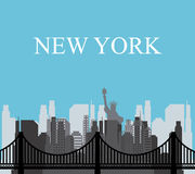 United States and New York design Stock Images