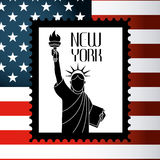 United States and New York design Stock Photo