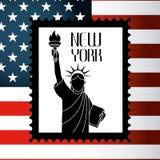 United States and New York design Stock Photo
