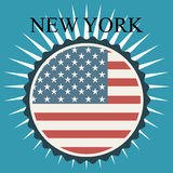 United States and New York design Stock Photos