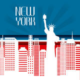 United States and New York design Royalty Free Stock Photos