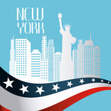 United States and New York design Royalty Free Stock Image