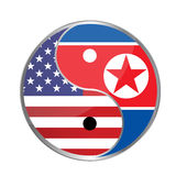United states and north korea peace concept Stock Image