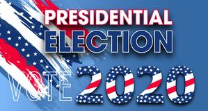 Free United States Of America Presidential Election. Vote 2020 USA Dynamic Design Elements For Flyer, Presentations, Poster. Colorful Stock Images - 159109564