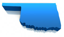 United States Oklahoma Map Outline Stock Photos