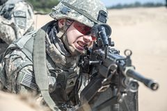 United States paratrooper Stock Images