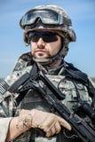 United States paratrooper Stock Image