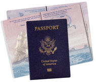 United States Passport with Electronic Chip Royalty Free Stock Photos