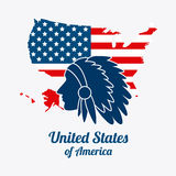 United states patriotism design.  Royalty Free Stock Images