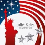 United states patriotism design. Stock Images