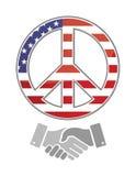 United states peace. america handshake concept Stock Photo