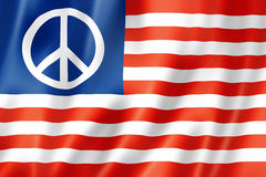 United States peace flag Royalty Free Stock Images