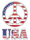 United states peace sign. On white background. Vector file available Royalty Free Stock Image
