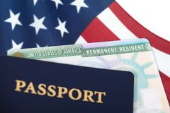 United States permanent resident card royalty free stock photo