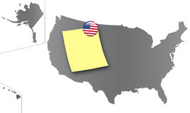 United States - Pin board Stock Photo