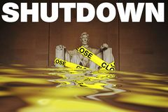 Government shutdowns in the United States stock images