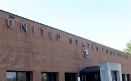 United States Post Office Building. Located in a residential neighborhood Stock Photos
