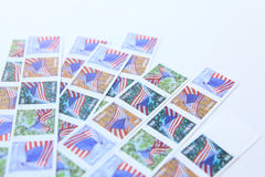 United States  Postage Stamp on white background Royalty Free Stock Photography