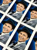 United States Postage Stamps. Frank Sinatra issued USPS postage stamps Stock Photos