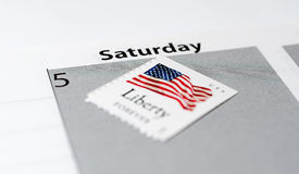 United States Postal Service Saturday Delivery Stock Photography