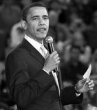 United States President Barack Obama. Onstage giving a speech in Phoenix, Arizona, USA Royalty Free Stock Image