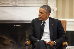 United States President Barack Obama. WASHINGTON D.C., USA - Sep 18, 2014: United States President Barack Obama during an official meeting with the President of Stock Images