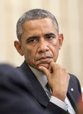 United States President Barack Obama. WASHINGTON D.C., USA - Sep 18, 2014: United States President Barack Obama during an official meeting with the President of Royalty Free Stock Photography