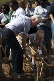 United States President Bill Clinton Digging Stock Photography