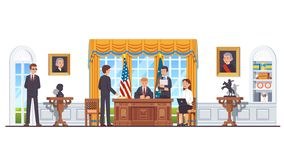 Free United States President In White House Oval Office Royalty Free Stock Photos - 159275488