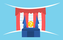 United States presidential election. Simple graphics of Oval office and question mark instead of president as metaphor of american presidential election royalty free illustration