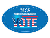 United States Presidential Election Stickers Stock Photo