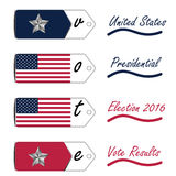 United States presidential election 2016 vote results Royalty Free Stock Photo