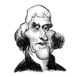 United States Presidents: George Washington. A caricature illustration of first president George Washington stock illustration