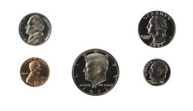 United states proof coins front isolated Stock Photo
