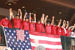 United States Ryder Cup Team. United States celebrates Ryder Cup victory over Europe Stock Photography