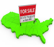 United States For Sale Stock Photo