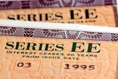 United States Savings Bonds - Series EE Stock Image