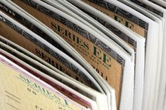 United States Savings Bonds - Series EE and Series I Royalty Free Stock Photo