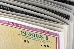 United States Savings Bonds - Series I Royalty Free Stock Photo